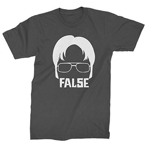 Expression Tees Mens Dwight False T-Shirt Medium Charcoal Grey