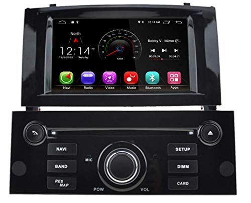 Sunshine Fly 7 pollici Android 8.0 Quad Core 1024 * 600 touch screen capacitivo 2 DIN DVD navigatore autoradio GPS Stereo per Peugeot 407 Audio Player Bluetooth FM AM Hotspot WiFi 3G SWC