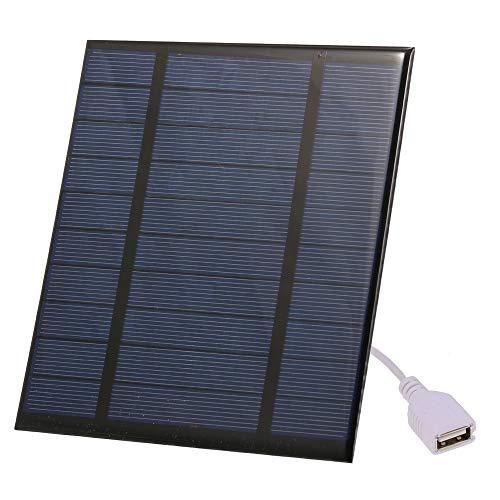 Galapara 2.5W/5V draagbare zonnepaneel oplader met USB-poort, compacte zonnepaneel telefoon oplader Epoxy plaat voor camping wandelen reizen Ourdoor Event