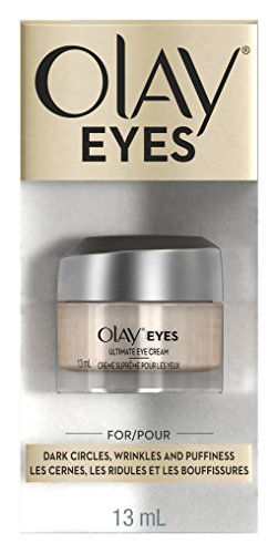 OLAY Ultimate Eye Cream for Dark Circles, Wrinkles And Puffiness 0.4 oz (Pack of 3)