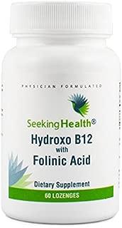Seeking Health | Hydroxo Vitamin B12 with Folinic Acid | 60 Vegan Lozenges | 1000 mcg Vitamin B12 and 800 mcg DFE Folate