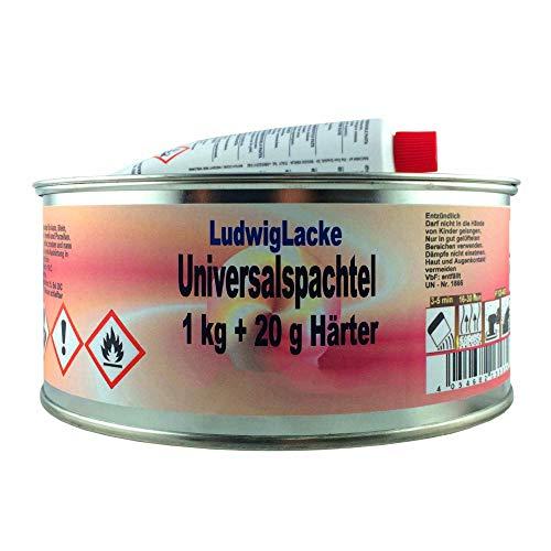 Universalspachtel Softspachtel 1 Dose Spachtelmasse 1kg & Härtertupe