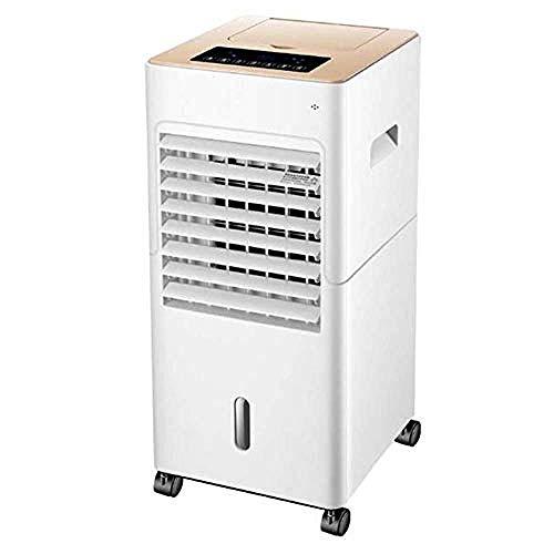 Refrigerador de aire portátil, control remoto, aire acondicionado móvil, ajuste de 3 velocidades, 12 horas de sincronización, tanque de agua de 5L Adecuado para la oficina en casa @ Control Remoto