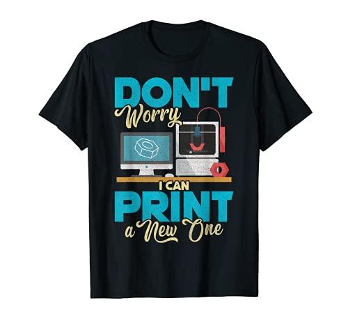 Impresora 3D Tee 3D Idea de regalo para Geeks Camiseta
