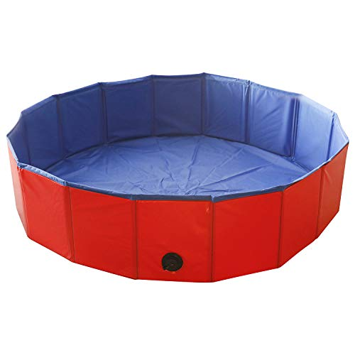 Artilife Portable Collapsible Foldable Leakproof Swimming Tub,Collapsible Bathtub,Swimming Slip Resistant,Foldable Dog Pet Bath Pool,Collapsible Dog Pet Pool Bar (32inch Dia.x8inch H(80x20cm))