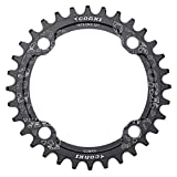 corki Single Speed Narrow Wide Chainring 34T Round for 104 BCD Crankset Black
