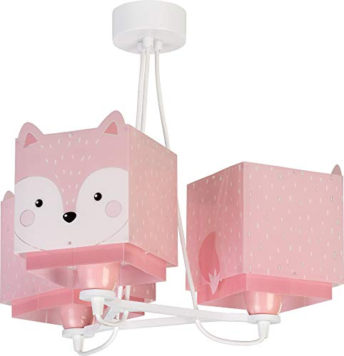 Dalber Little Fox Lámpara Infantil de Techo 3 Luces Zorro Animales, 60...