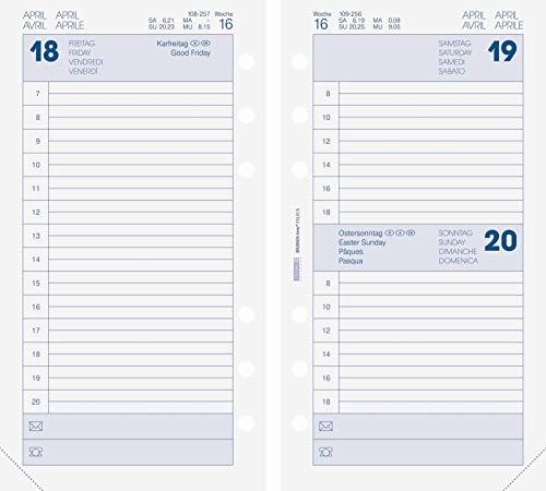 BRUNNEN 1074902001 Tageskalendarium, Zeitplansysteme, 2021, 1 Seite = 1 Tag, Sa. + So. auf einer Seite, Blattgröße 9,3 x 17,2 cm