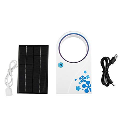Mini Ventilador portátil Ligero 2W 5V Mini Ventilador USB Kit de refrigeración Accesorio Ventilador de Panel Solar portátil Panel Solar al Aire Libre Mini Ventilador para Deportes al Aire
