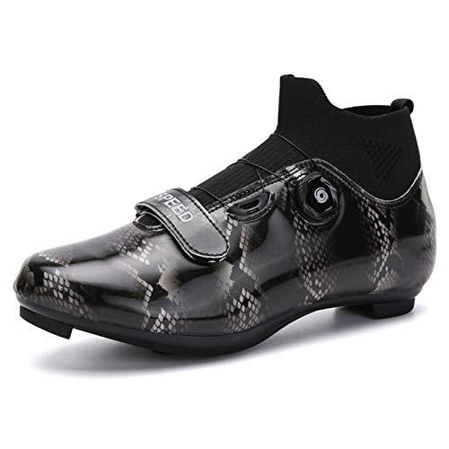Gogodoing Zapatillas de Ciclismo para Bicicleta de Carretera para Hombre Zapatillas de Ciclismo para Mujer Compatibles SPD/SPD-SL Zapatillas Antideslizantes