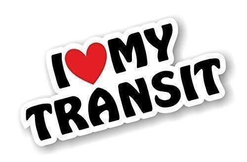 I Love Heart Luv My Design Transit pour MK1 MK2 MK3 MK4 MK5 MK6 MK7 Transit Van amateurs en vinyle autocollant pour voiture en 170 x 75 mm