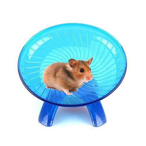 Dylandy Hamsterrad fliegende Untertasse Rad Hamster Rad leise Spinner Hamster Übung Spielzeug Hamster Spielzeug für kleine Tiere Zwerghamster Ratten Rennmäuse Mäuse Meerschweinchen Eichhörnchen (blau)