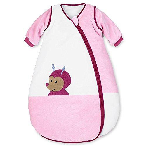 Sterntaler Schlafsack für Kleinkinder, Abnehmbare Ärmel, Wärmeregulierung, Reißverschluss, Größe: 110, Katharina, Weiß/Rosa