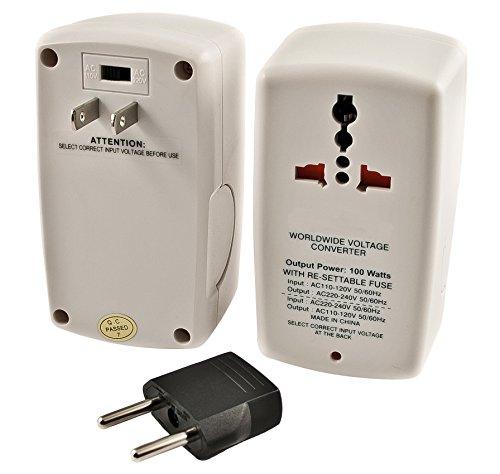 Simran SMF-100 Universal 100W Travel Voltage/Power Converter, 100 Watt, Ivory