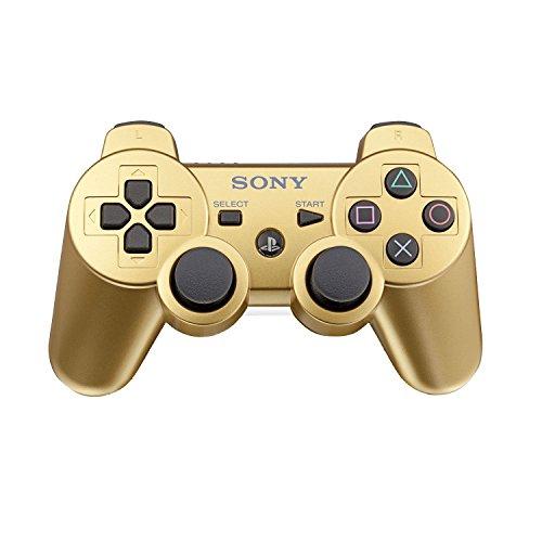 Preisvergleich Produktbild Sony Playstation 3 PS3 Dualshock Bluetooth Wiederaufladbare Kabellose Controller,  gold
