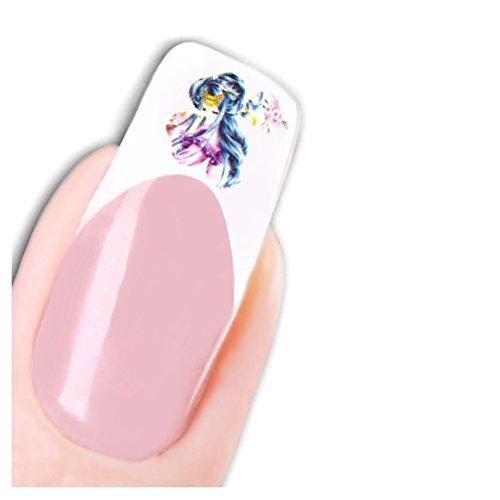 Just Fox – Stickers pour ongles Nail art autocollants pour le Japon Manga Fleurs Flower Water Decal