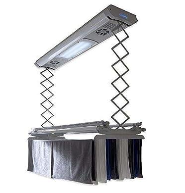 Foto di foxydry Air Stendibiancheria da Parete e soffitto Elettrico, stendino stendipanni telecomandato in Alluminio e Acciaio (150)