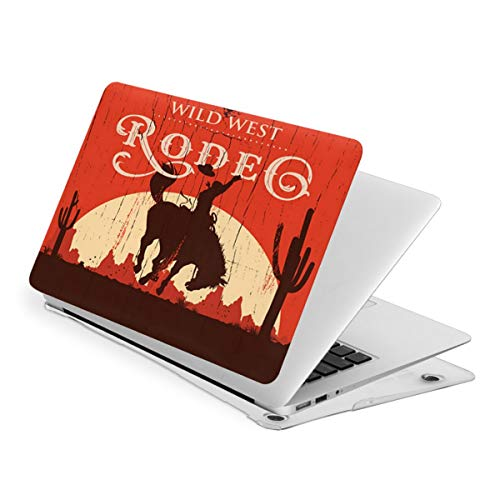 Laptop Case for MacBook Rodeo Cowboy Riding Bull Western Style Laptop Computer Hard Shell Cases Cover (New Air13 / Air13 / Pro13 / Pro15)