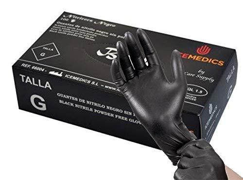 Talla 10 Guantes de nitrilo Color azul - Caja dispensadora de 100/unidades Walking XL Guantes Nitrogel