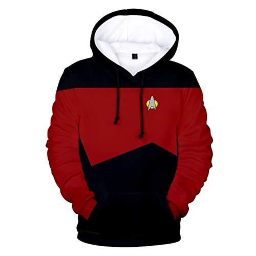 Mempire Star Trek Cosplay Sweat-Shirt à Capuche Wrath of Khan Admiral Kirk Casual Sports Sweatshirt Anime Costume (B,2XL)