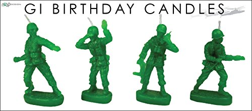 Retro Toy Soldiers 'Army Men' Military Birthday Candles (set of 4) - by NuOp Design