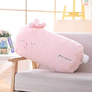 MANGMOC Plush Toys Stuffed Animals Sleeping Rabbit Plush Pillow Fuzzy Stuff Stripe Bow Knot Square S D Plush Animal Pillows Toddler Must Haves 1 Year Old Boy Gifts The Favourite Anime