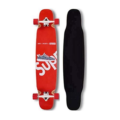 WYWY patineta Profesional de Arce monopatín Papel de Lija Long Board Grip Bailar Junta de Lija Antideslizante absorción de Choque Patín Skateboards (Color : C)