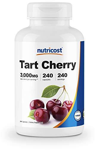 Nutricost Tart Cherry Extract 3000mg, 240 Vegetarian Capsules - Gluten Free, Non-GMO