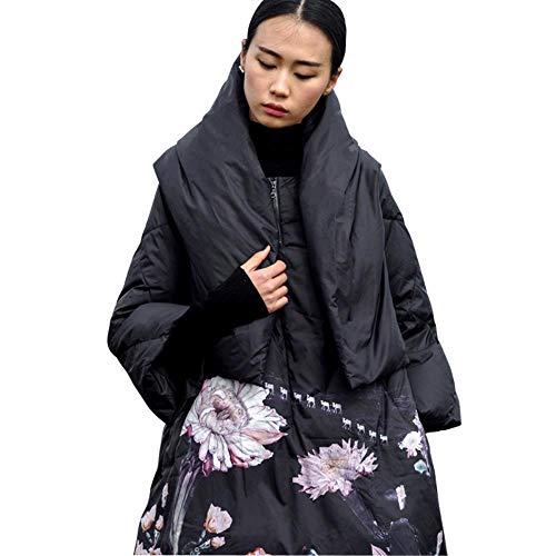 Twhoixi winterjas, dames, wit, Duck Down print, kleurrijke para´s met capuchon, mantel, lang dons, warm