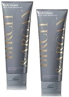 Bath and Body Works 2 Pack Birch & Argan Body Cream with Argan Oil 8 Oz.