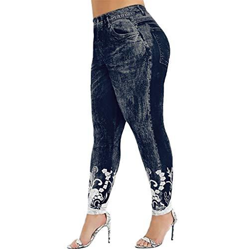 NUSGEAR VPASS Mujer Pantalones, Impresión Elásticos Pantalones de Yoga de Talla Grande Mujer Fitness Mallas Gym Yoga Slim Fit Pantalones Largos Pantalones Leggings Cintura Alta Deportivos Running