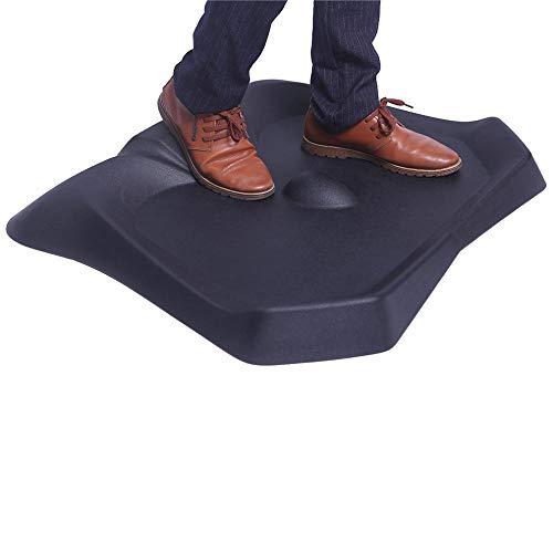 Standing Anti-Fatigue Mat, Not-Flat Ergonomics Surface Comfort Floor Mat, Standing Office Mat Fit for Any Office Standing Desk, Black