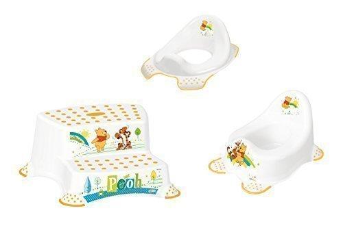 3er Set Z Winnie Pooh weiß WC Aufsatz + Kindertopf + Hocker zweistufig Toilettentrainer