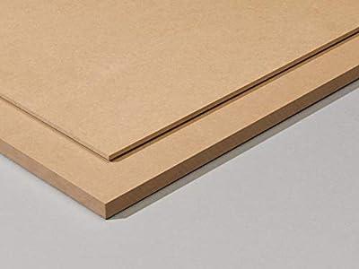 Tableros de madera DM (MDF) de 5MM. Tamaños disponibles A0, A1, A2, A3, A4, A5 (a elegir). Soporte para manualidades, decoración, dibujo, DIY, bricolaje, pintura. (2ud_A2,(594x420mm))