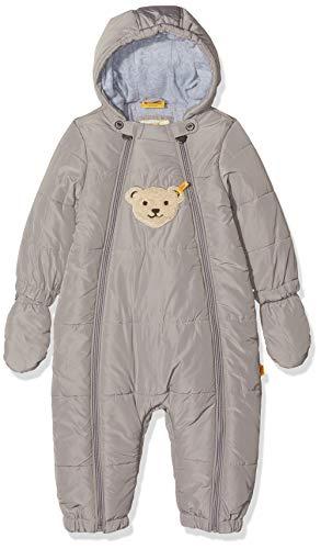 Steiff Steiff Baby-Jungen Schneeoverall Schneeanzug, Grau (Wet Weather|Gray 1019), 62