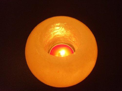 Set di 3 Rock Sale Portacandele Tea Light in Forma Rotonda