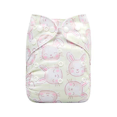 ALVABABY Cloth Diapers One Size Adjustable Washable Reusable One Pocket Nappy for Baby Girls and Boys with 2 Inserts YX50