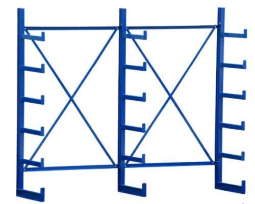 ABRANTA 2,5m Kragarmregal leicht, einseitig, Langgutregal, Stangenregal 50cm tief