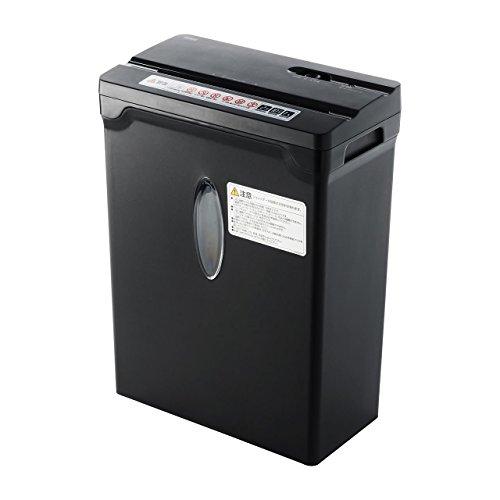 サンワダイレクト シュレッダー 家庭用 電動 クロスカット ホッチキス対応 A4 10枚細断 ブラック 400-PSD031