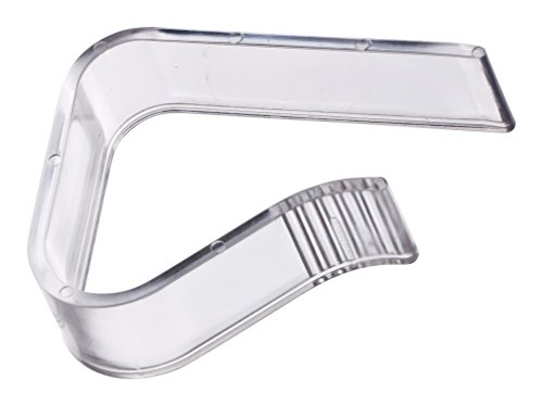 Juego de 4 pinzas para manteles DIYexpert para mesas de hasta 27 mm, de plástico, transparente