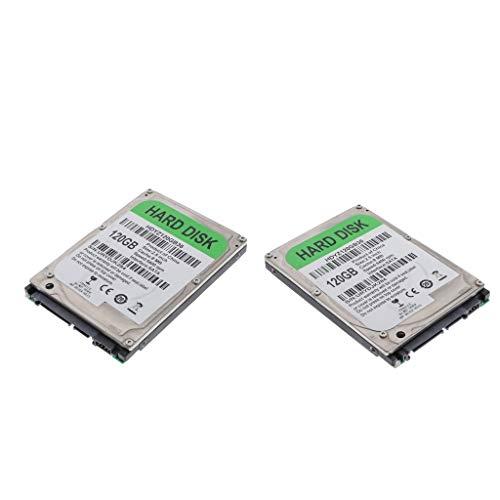 Almencla 2pcs 2.5 '' Disco Duro Mecanico HDD SATA 8M Unidad de Disco Duro Interna de Alto Rendimiento para Computadora - 120GB