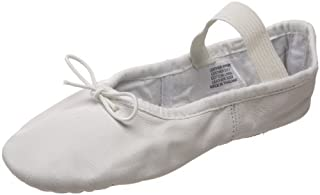 Bloch Girls Dance Dansoft Full Sole Leather Ballet Slipper/Shoe,  White,  7.5 Narrow Toddler