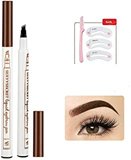 Secorn Eyebrow Tattoo Pen - Microblading Eyebrow Pen - Waterproof Eyebrow Pencil, Creates Natural Looking Eyebrows Effortlessly and Stays on All Day, Chestnut, 1 Count