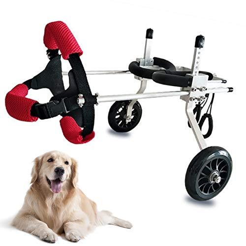 LY-Rack Perro discapacitado Asistido Paseo Coche Mejor Amigo Movilidad Perro Silla de Ruedas, Ayuda para la rehabilitación de Las Patas traseras, para la Artritis lesionada Perro débil Gato Mascota