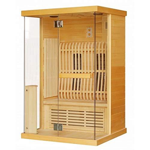 Bagno Italia Sauna infrarouge pour deux personnes 123,6 x 103,6 cm avec chromothérapie radio connexion USB