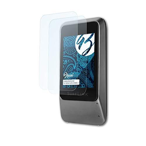 Preisvergleich Produktbild Bruni Schutzfolie kompatibel mit Starkey SurfLink Mobile 2 Folie,  glasklare Displayschutzfolie (2X)