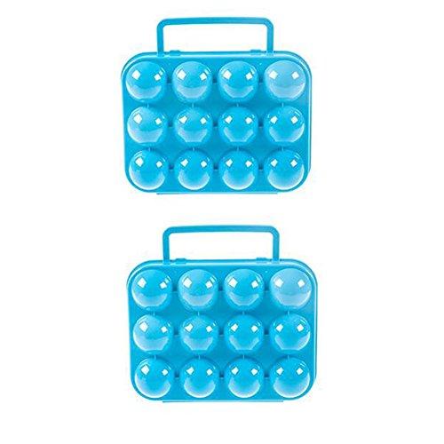 azul pl/ástico 21 x 20,5 x 7cm Laat cajas de almacenamiento de huevos port/átil porte-oeufs pl/ástico 12-trou Portatif