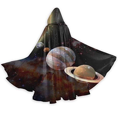 Capa Capa de Adulto para Halloweenn Sistema Solar Planetas Ciencia Espacial Astronoma Unisex Tnica Larga Disfraz de Halloween Capa de Uniforme Capa de Halloween 150CM