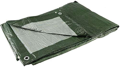 Allzweck-Gewebeplane mit Ösen 4x5m | reißfest | witterungsbeständig | 90gr/m²