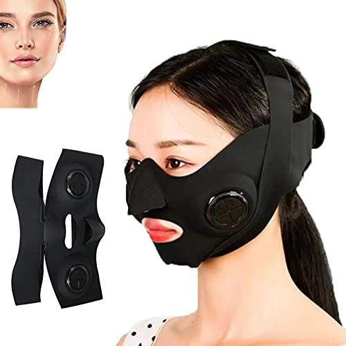 NSWD Masajeador Facial en V, V Facial Masajeador Facial Levantamiento, para El Cuidado de La Piel, Lifting Facial, Reducción de Doble Mentón, Control de PC, Material de Silicona